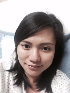 St. Luke's hospital selfie before labor
