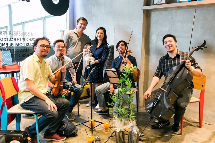 8Cuts Burger Blends baptism reception Manila String Machine string quartet special events