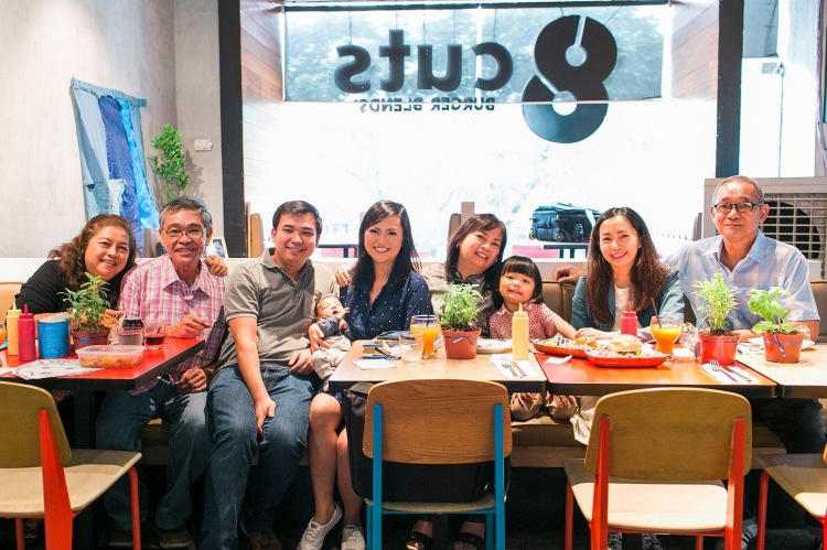 8Cuts Burger Blends baptism reception with family