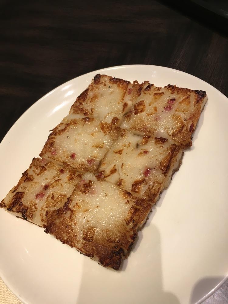 Radish cake at unlimited dim sum at jasmine new world hotel makati