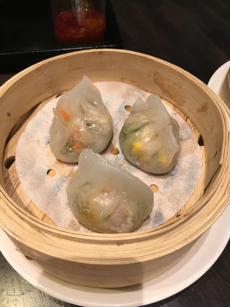 Mixed mushrooms dumplings at unlimited dim sum at jasmine new world hotel makati