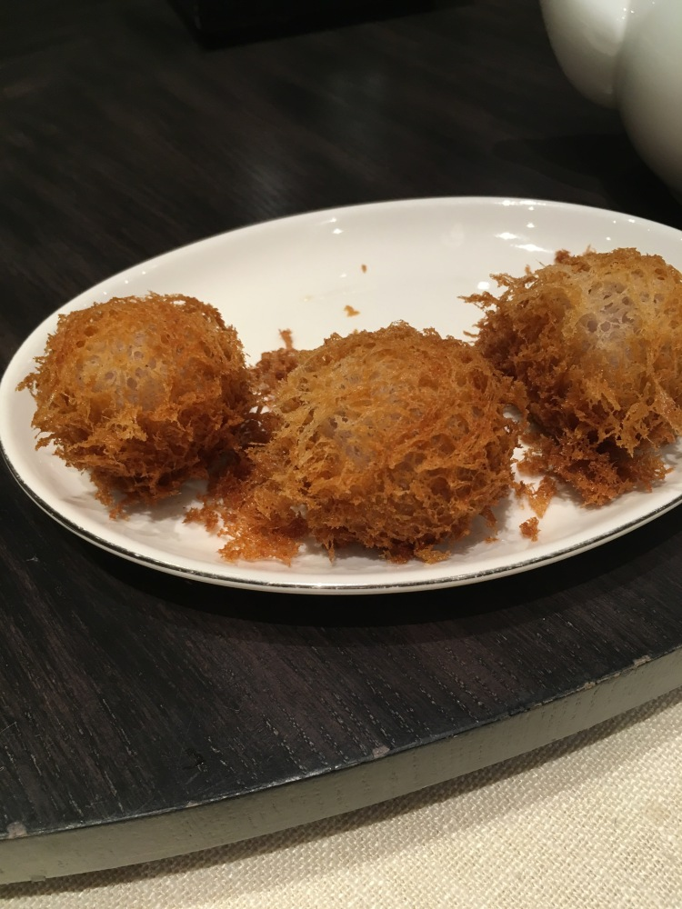 Seafood taro puff at unlimited dim sum at jasmine new world hotel makati