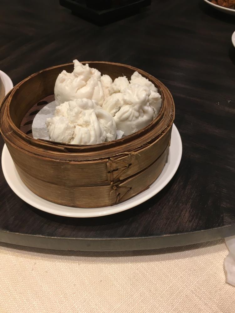 Chicken bun with black mushroom at unlimited dim sum at jasmine new world hotel makati