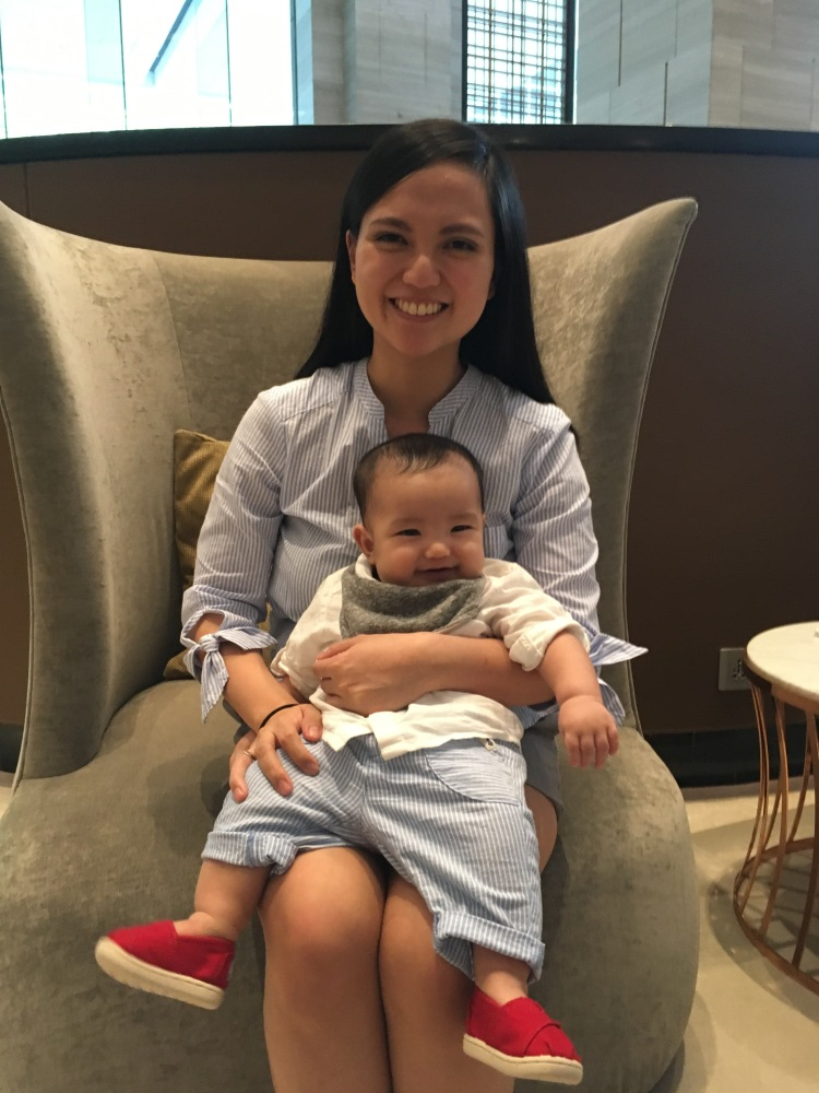mom with baby at unlimited dim sum at jasmine new world hotel makati