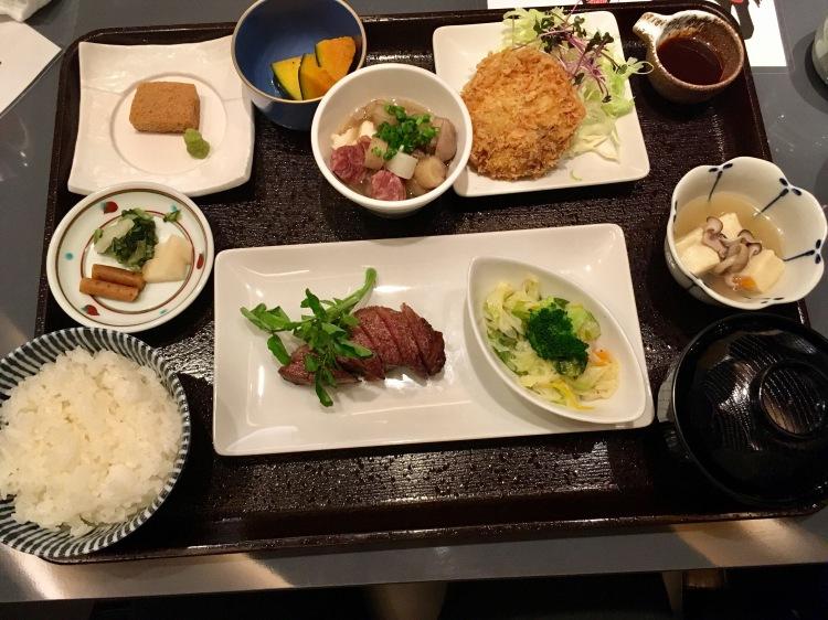 Kobe beef lunch set in Tokyo