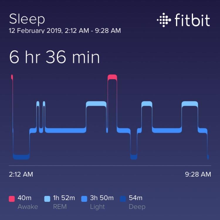Fitbit sleep log
