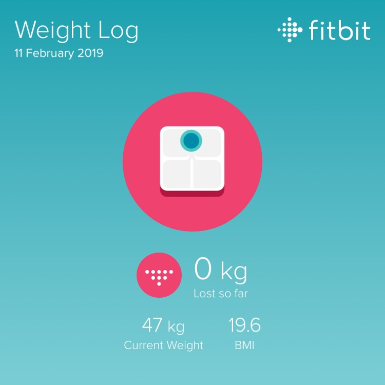 Fitbit weight log