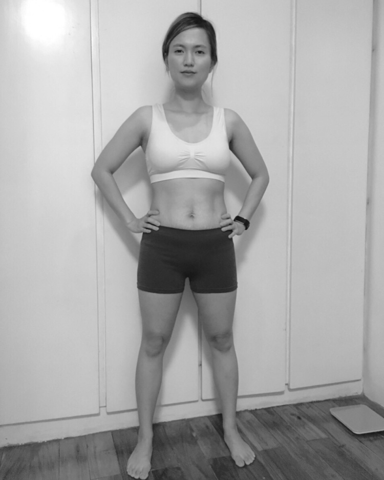 Mom weight loss one month